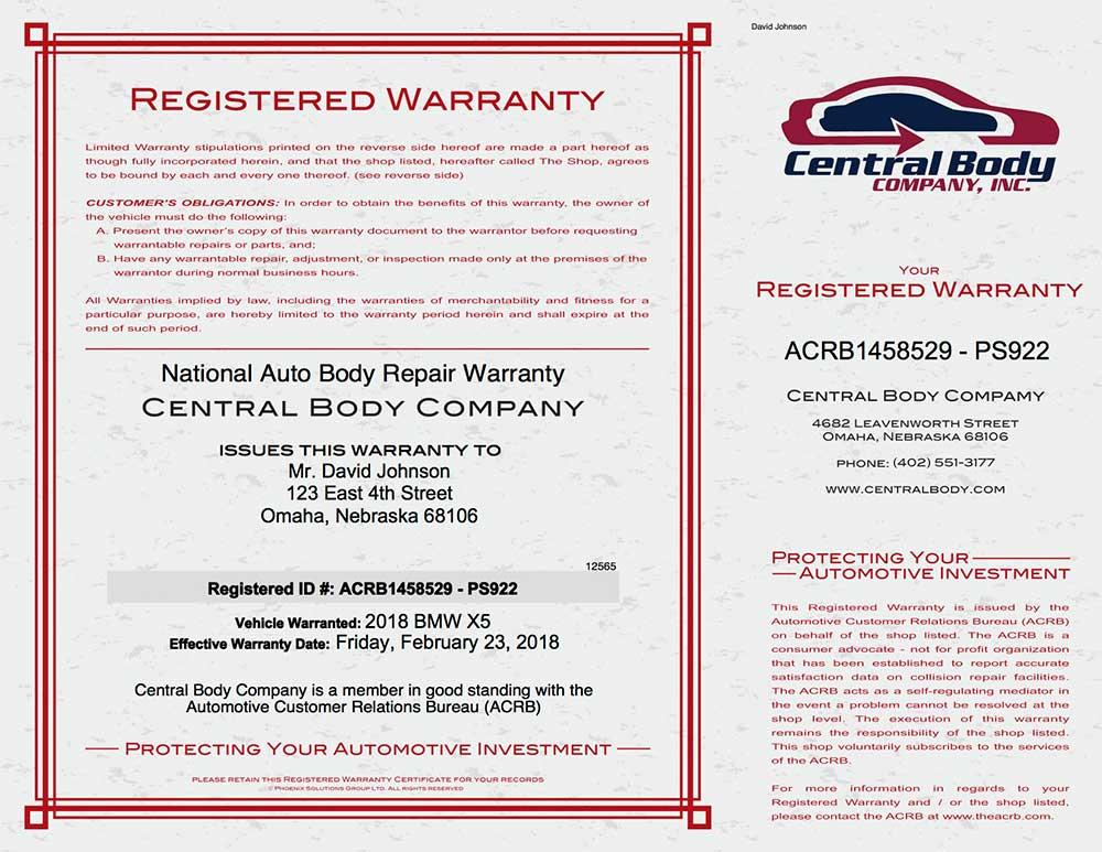 ACRB Warranty